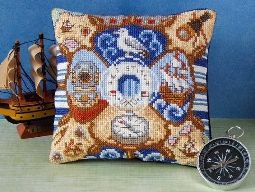 All_at_Sea_Mini_Cushion_Cross_Stitch_Kit