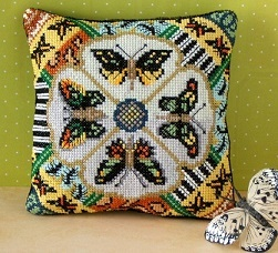 Butterfly Study Mini Cushion Cross Stitch Kit