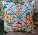 British Army Mini Cushion Cross Stitch Kit