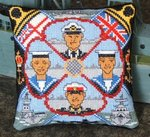 Royal Navy Mini Cushion Cross Stitch Kit