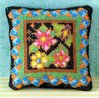 Floral Zest Cross Stitch Pincushion Kit