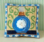 Electric Blue Mini Cushion Cross Stitch Kit