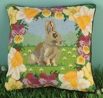 Spring Bunny Mini Cushion Cross Stitch Kit