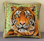 Tiger Mini Cushion Cross Stitch Kit