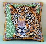 Leopard Mini Cushion Cross Stitch Kit