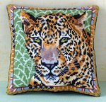 Leopard Mini Cushion Cross Stitch CHART PACK