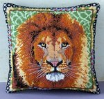 Lion Mini Cushion Cross Stitch Kit