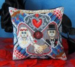 Love Never Dies Mini Cushion Cross Stitch Kit