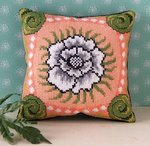 White Poppy Mini Cushion Cross Stitch Kit