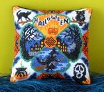 Halloween Night Mini Cushion Cross Stitch Kit