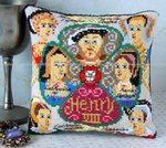 Henry VIII & his Wives Mini Cushion Cross Stitch Kit