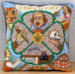 William Shakespeare Mini Cushion Cross Stitch Kit