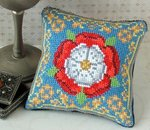 Tudor Rose Pincushion Cross Stitch Kit