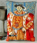 Henry VIII Portrait Mini Cushion Cross Stitch Kit