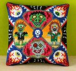 Zombie Invasion Mini Cushion Cross Stitch Kit