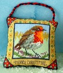 Christmas Robin Hanging Decoration Cross Stitch Kit