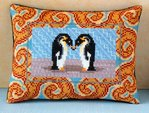 Loving Penguins Mini Cushion Cross Stitch Kit