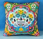 Sugar Skulls Mini Cushion Cross Stitch Kit