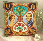 Victoria and Albert Mini Cushion Cross Stitch Kit