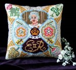 Queen Elizabeth II Celebration Mini Cushion Cross Stitch Kit