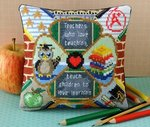 Apple for the Teacher Mini Cushion Cross Stitch Kit