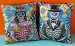 Male and Female of the Dead Mini Cushion Cross Stitch Kits