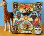 Tribal Africa Mini Cushion Cross Stitch Kit