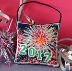 New Year 2017 Hanging Decoration Cross Stitch Kit