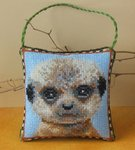 Baby Meerkat Hanging Decoration Cross Stitch Kit