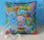 The Mermaid's Locker Mini Cushion Cross Stitch Kit
