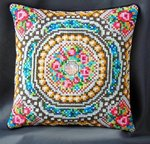 Mosaic inspired by Faberge Mini Cushion Cross Stitch Kit