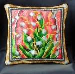 Lilies of the Valley Pincushion Cross Stitch Kit inspired by Fabergé