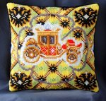 Coronation inspired by Fabergé Mini Cushion Cross Stitch Kit
