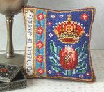 Catherine of Aragon Badge Pincushion Cross Stitch Kit