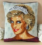 Diana, Princess of Wales Mini Cushion Cross Stitch Kit