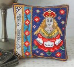 Catherine Parr Badge Pincushion Cross Stitch Kit
