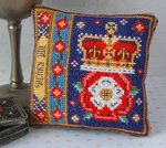 Henry VIII Badge Pincushion Cross Stitch Kit
