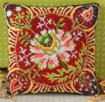 Harvest Flower Festival Mini Cushion Cross Stitch Kit