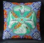 The Swan inspired by Fabergé Mini Cushion Cross Stitch Kit