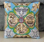 Ghastly Gargoyles Mini Cushion Cross Stitch Kit