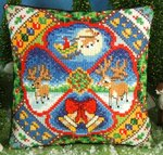 The Night before Christmas Mini Cushion Cross Stitch Kit