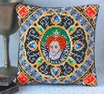 Portrait of Elizabeth I Mini Cushion Cross Stitch Kit