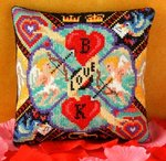 Cupid's Arrow Mini Cushion Cross Stitch Kit