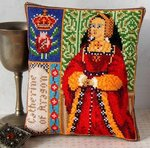 Catherine of Aragon Mini Cushion Cross Stitch Kit
