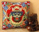 Oriental Dragon Mini Cushion Cross Stitch Kit