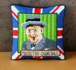 Winston Churchill Pincushion Cross Stitch Kit