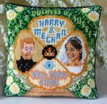 Harry and Meghan Mini Cushion Cross Stitch Kit
