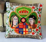 King Henry VII and Elizabeth of York Mini Cushion Cross Stitch Kit