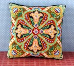 Lily Tile Mini Cushion Cross Stitch Kit