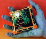 Halloween House Pincushion Cross Stitch Kit